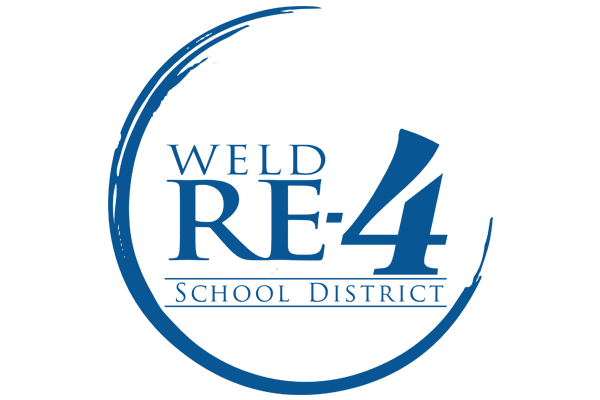 Weld Re-4 School district logo